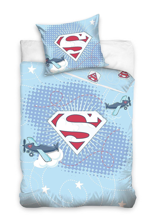 Aptex Supergirl Parure de lit pour b/éb/é 100 x 135 cm taie doreiller 40 x 60 cm 100/% Coton