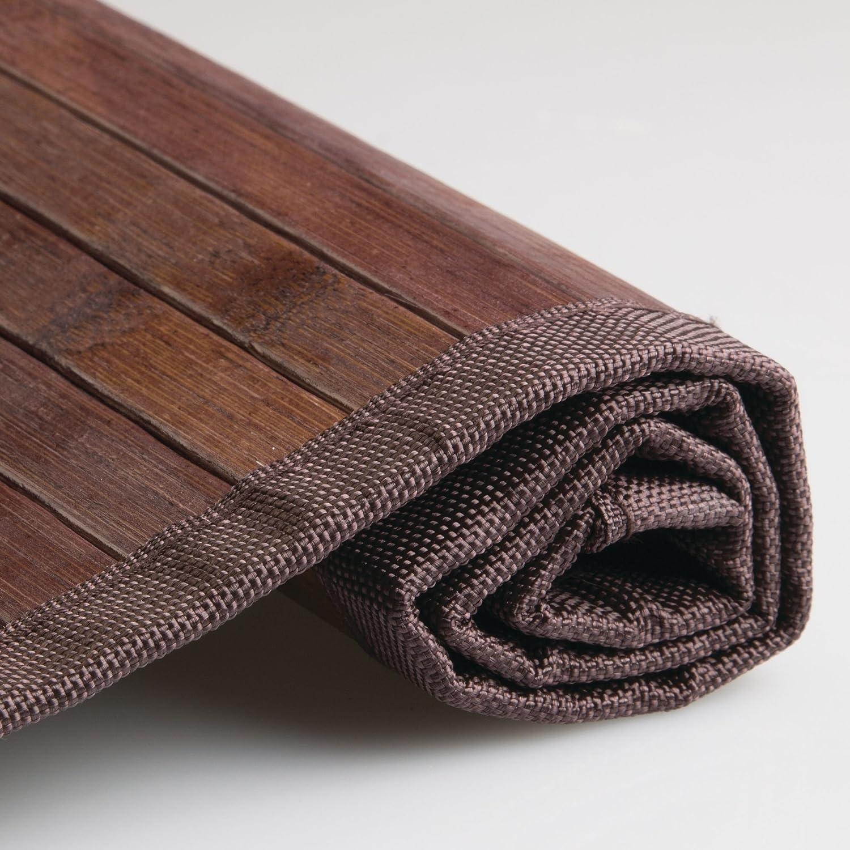 Bamb/ú Marrone InterDesign Formbu Bamboo Tappetino Bagno 61 x 122 cm Mocha