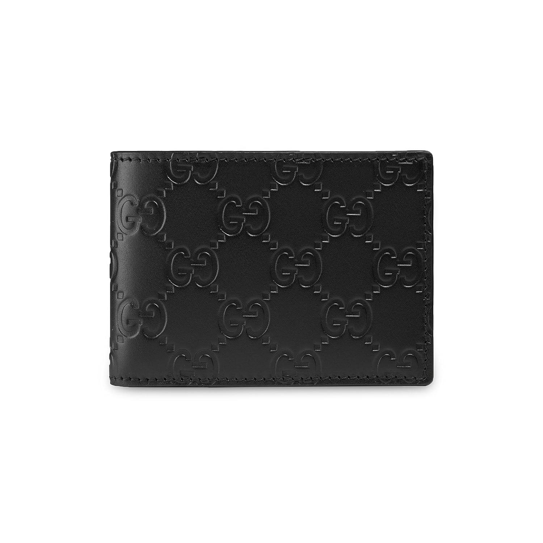 f3182240ce67 Gucci Signature Guccissima Leather Compact Bifold Wallet, Black 233155:  Amazon.ca: Clothing & Accessories