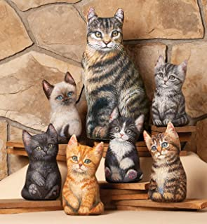product image for Home Decor Accent Kittens | Artwork by Amy Brackenbury | 6 Styles | Office Decor | Great Gifts for Cat Lovers (Black)