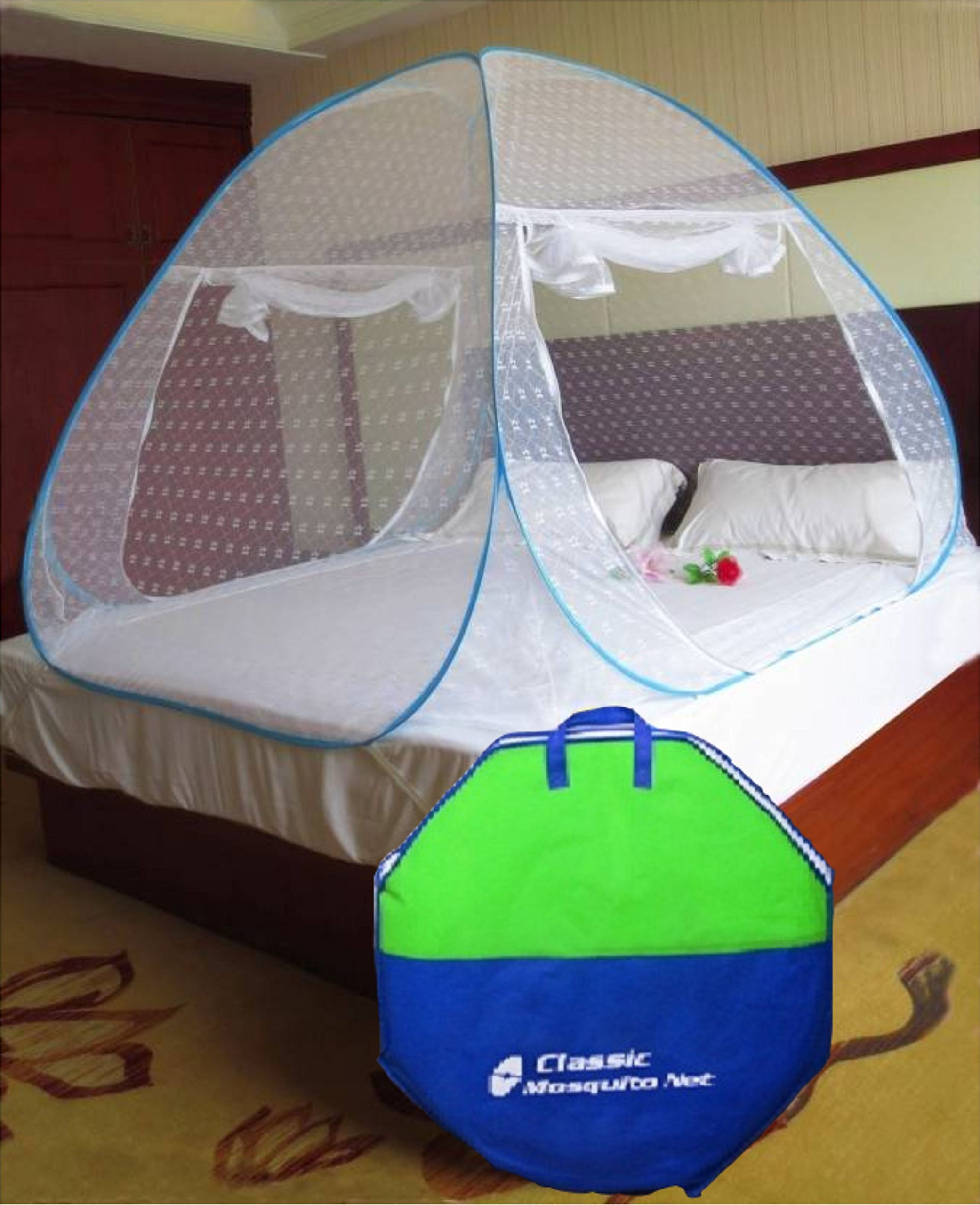 Classic Mosquito Net Foldable King Size/ Queen Size Double Bed(Blue) (Size-Double) product image