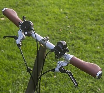 Mango ergonómico para Brompton Bicicleta Plegable Eco Piel aluminio, con bocallave), color marrón
