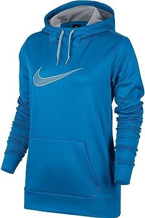 Nike de las Mujeres Therma Todos los Tiempos Sudadera con Capucha para niño, Azul (LT Photo Blue): Amazon.es: Deportes y aire libre
