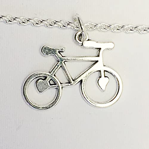 Bicycle charm necklace gift for cyclist bicycle pendant necklace bicycle charm necklace gift for cyclist bicycle pendant necklace for cyclist charm aloadofball Image collections