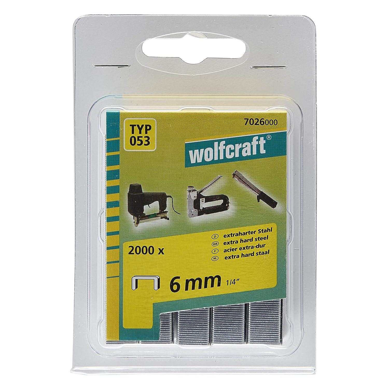 Wolfcraft 7026000 Tackerklammern schwarz