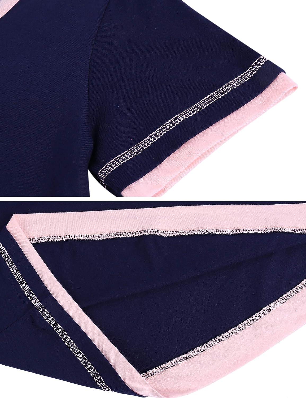 Camicia da Pigiama da Scollo a V Senza Maniche Estivo Camicia da Notte Casual Aibrou Camicia da Notte Donna