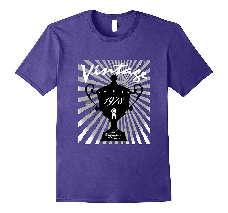 39th Happy Birthday T-Shirt Gift - 1978 Age 39 Vintage Tee-Vaci