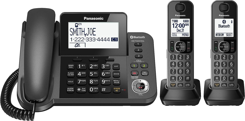Panasonic KX-TGF382M DECT 6.0 Plus Corded/Cordless 2-Handset Landline Telephone System (Renewed)