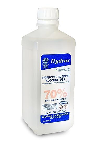 Amazon Hydrox 70 Isopropyl Rubbing Alcohol USP 16 Oz Health