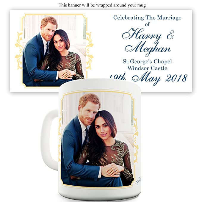 bf62ca0d640 Amazon.com  Twisted Envy Harry And Meghan Marriage Windsor Castle Ceramic  Mug  Kitchen   Dining