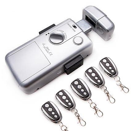 KENROD Cerradura Inteligente Invisible 🔼 Cerradura 5 Mandos 🔼 Cerradura Antibumping 🔼 Cerradura Electronica con Mando
