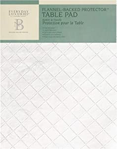 Newbridge Embossed Vinyl Cut to Size Table Pad Protector with Flannel Backing - Waterproof, Heat Resistant, Wipe Clean, Pad Protects Table from Spills and Scratches, 70 Inch Round