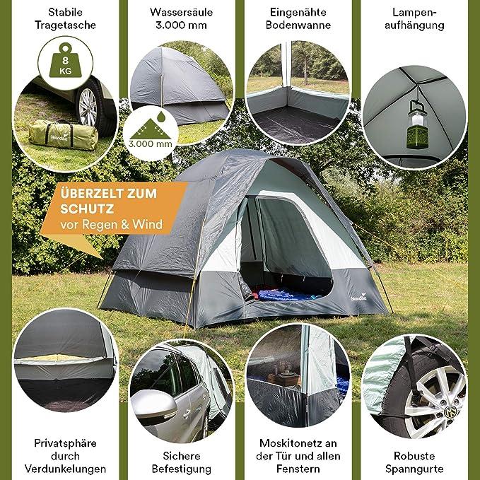 skandika Pitea SUV - Tienda Avance para Furgonetas de Camping - 4 Personas - 300 x 300 x 220cm - Suelo Cosido en Forma de bañera - mosquiteras en ...