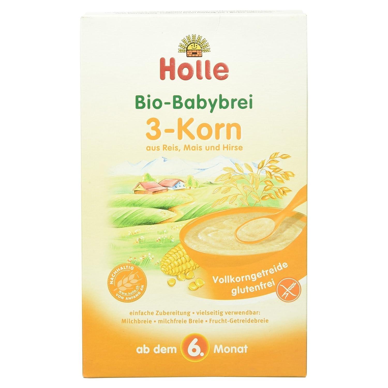 Holle Bio Babybrei 3-Korn aus Reis, Mais und Hirse, 250 g 335794