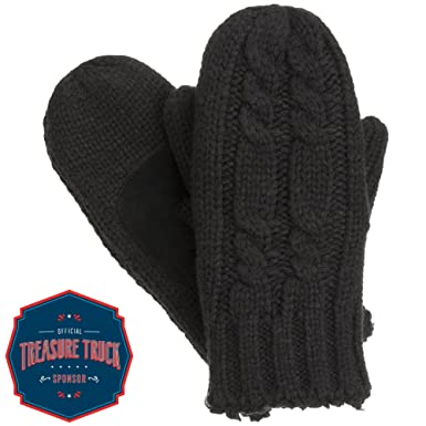 2d8dd3dd368 isotoner Women s Chunky Cable Knit Cold Weather Mittens with Warm ...
