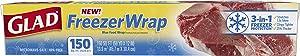 Glad Freezer Wrap, 150 Square Foot Roll