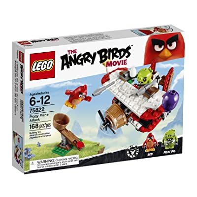 LEGO Angry Birds 75822 Piggy Plane Attack Building Kit (168 Piece): Toys & Games