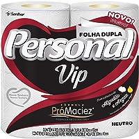 Papel Higiênico VIP Folha Dupla, Personal, 4 unidades, Branco (Embalagem pode variar)