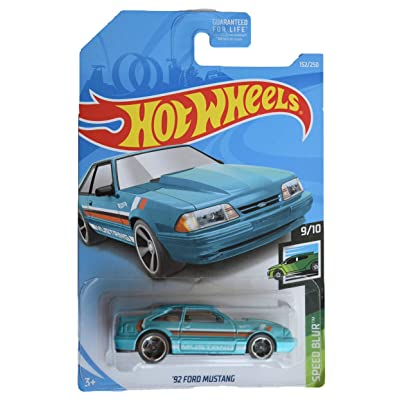 Hot Wheels Speed Blur 9/10 [Teal] '92 Ford Mustang 152/250: Kitchen & Dining