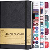 Legend Planner - Deluxe Weekly & Monthly Life Planner to Hit Your Goals & Live Happier. Organizer Notebook…