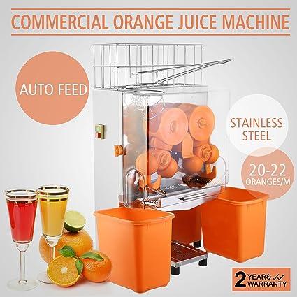 PVRO Exprimidor Naranjas Exprimidor de Zumos Exprimidor de Cítricos Orange Juice Squeezer Commercial Grade Auto Feed