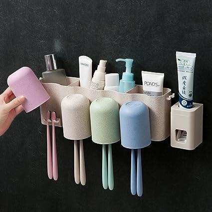 Antipolvo para cepillo de dientes y pasta de dientes Holder Set de almacenamiento | Namee eléctrico