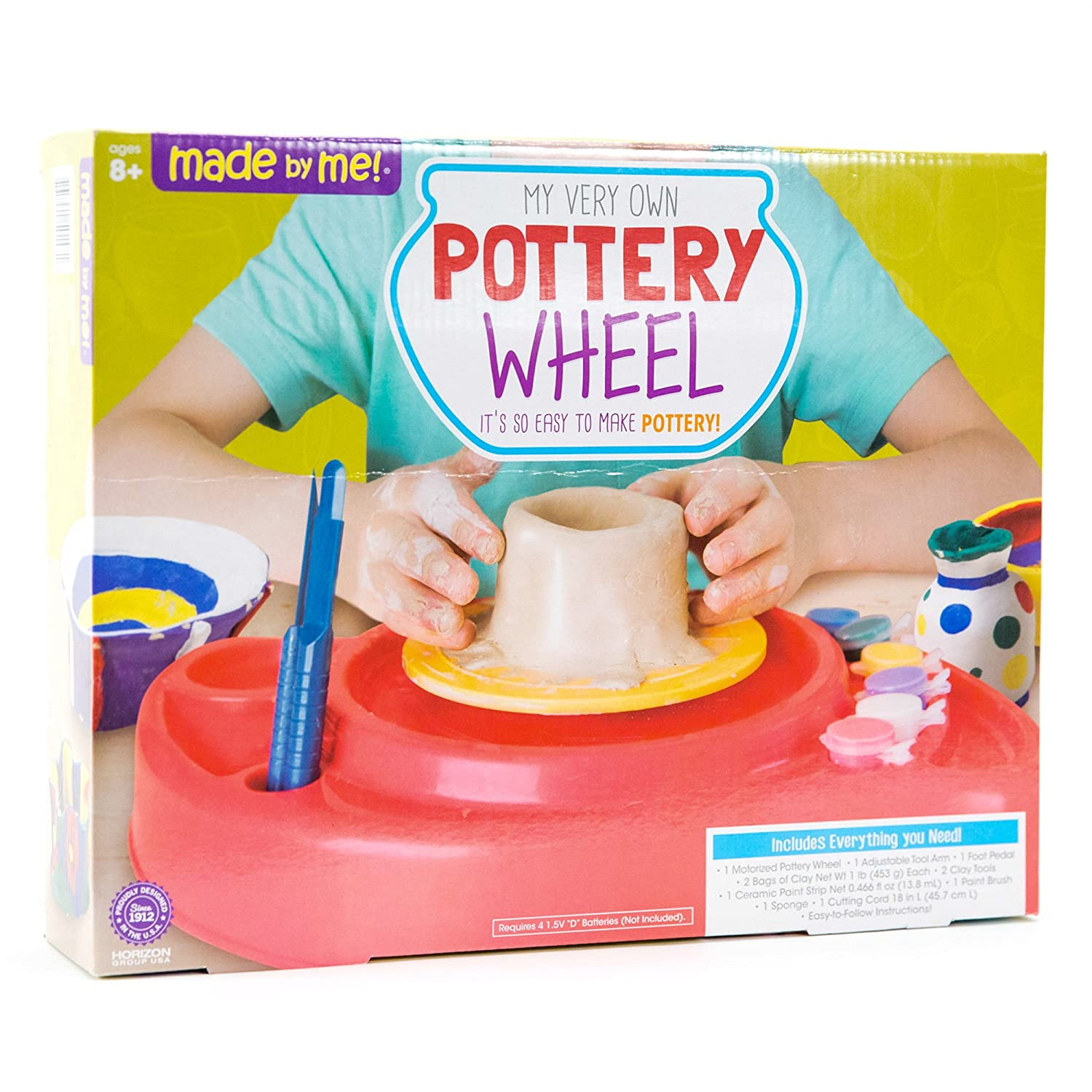 amazon com made by me pottery wheel by horizon group usa toys
