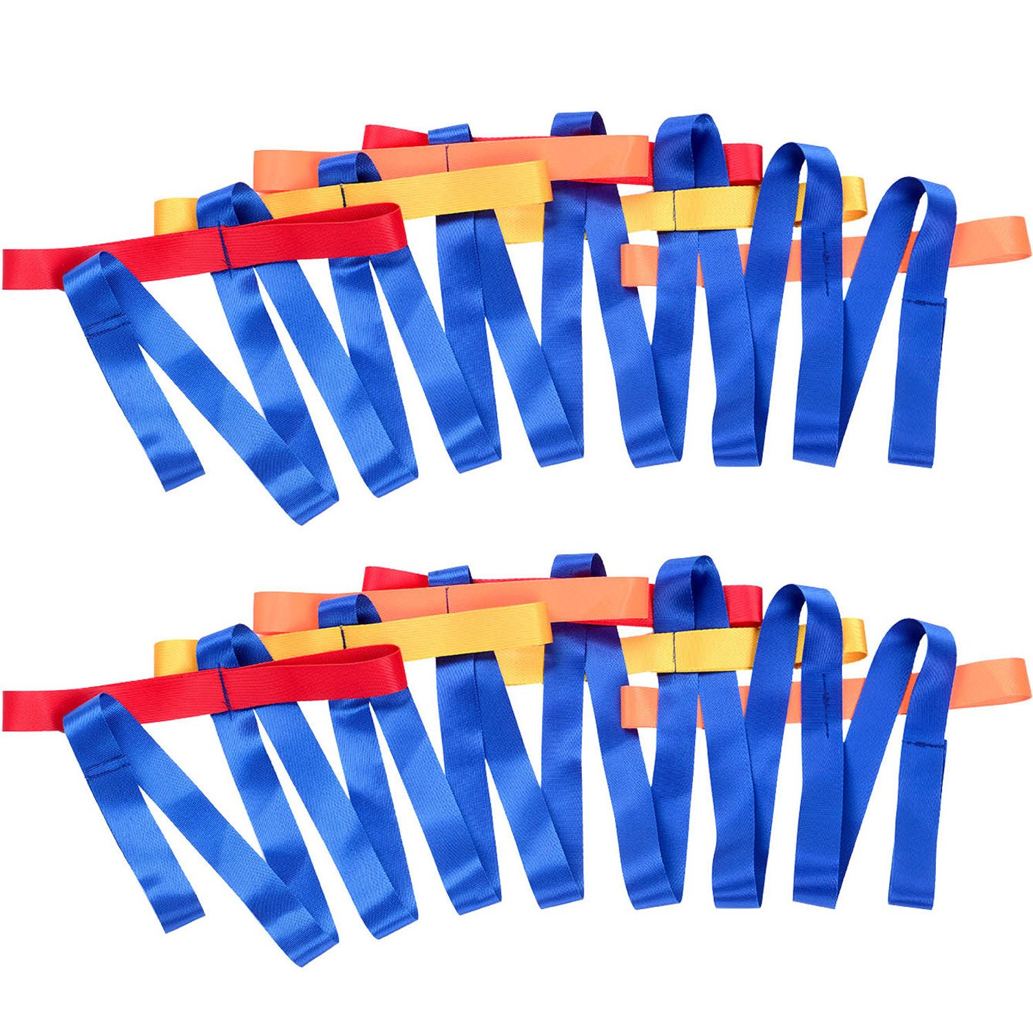 TecUnite 2 Packs Short Walking Rope with 12 Handles for Preschool Children Toddlers Daycare Schools Teachers
