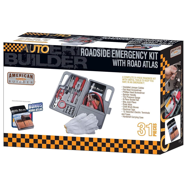 American Builder HW2194 Gray 31-Piece Auto Roadside Emergency Tool Kit