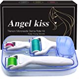 Derma Roller Microneedling Kit for Body Face - Angel Kiss 4 in 1 Titanium Microneedle Facial Skin Needle Roller - Microdermab