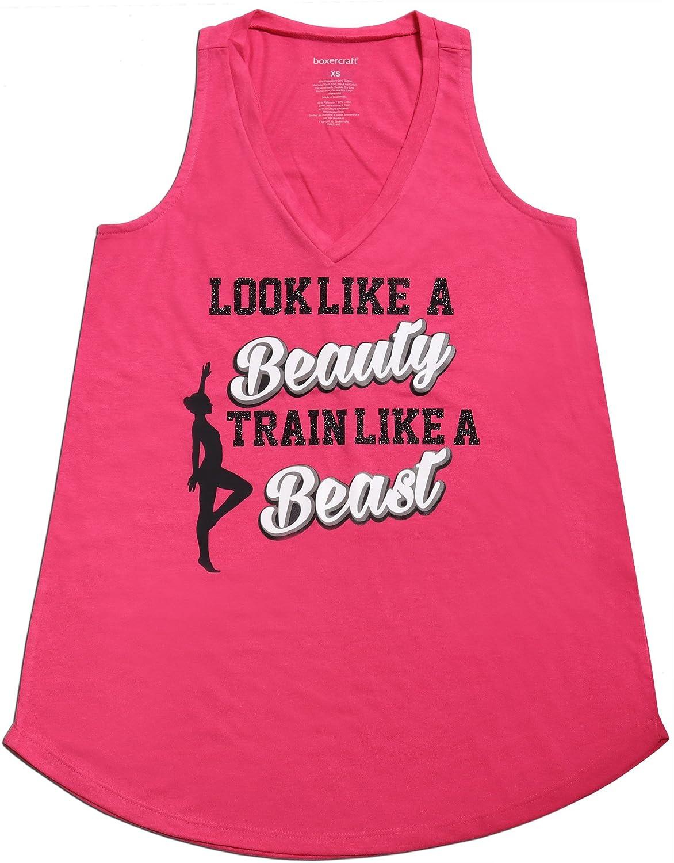 Snowflake Designs Look Like a Beauty Train Like a Beast Gymnastics Pink Tank Top
