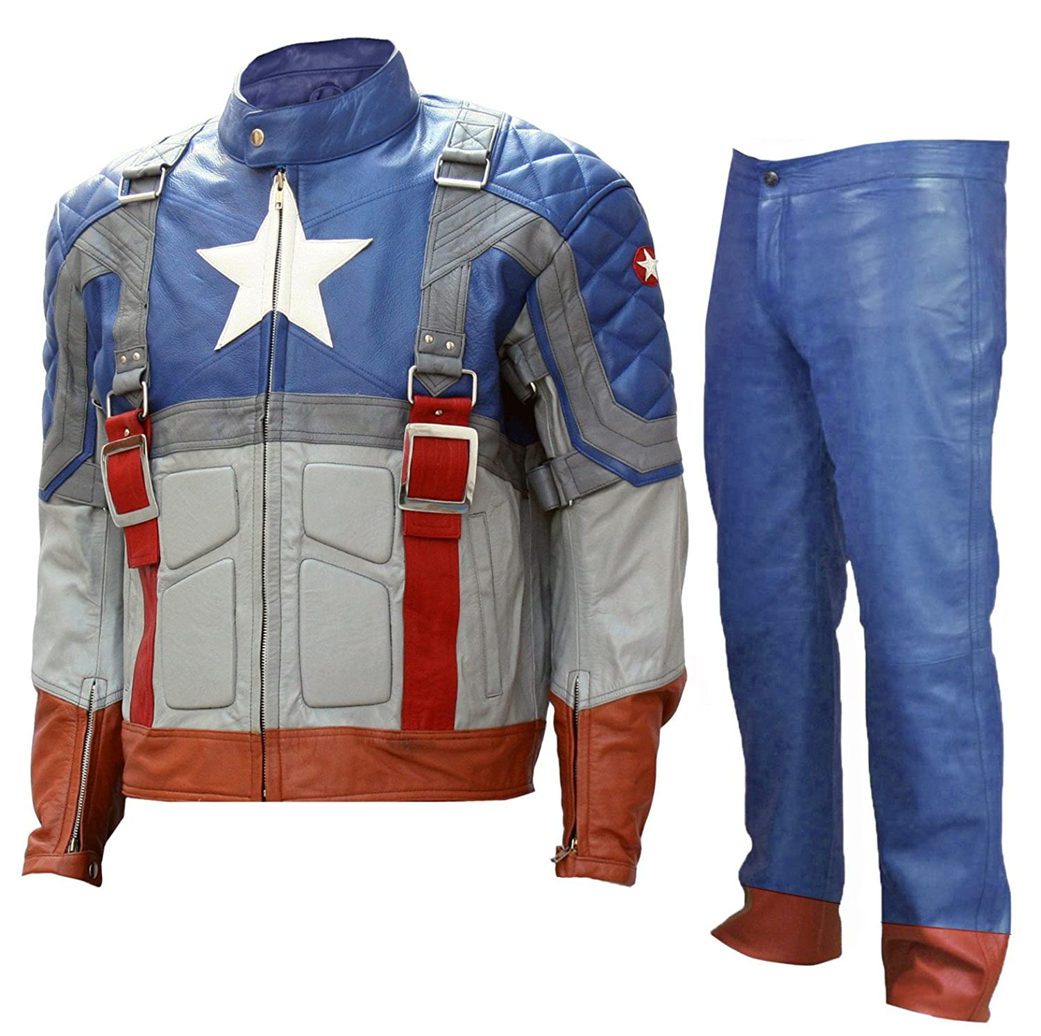 Men's Classic Captain America: The First Avengers Celebrity Leather Costume - DeluxeAdultCostumes.com