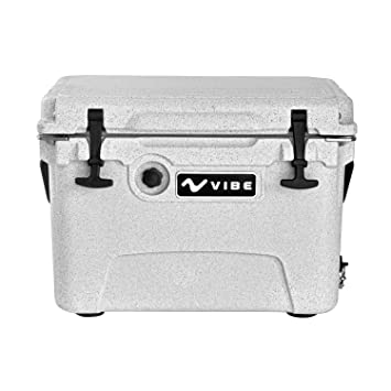 roto molded cooler. vibe element 20q rotomolded cooler with bottle openers - alpine gray roto molded