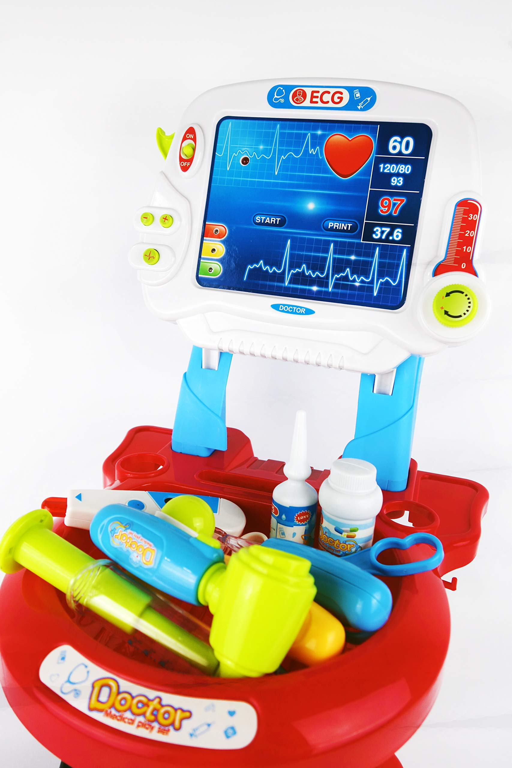 NBD Corp Kids Toy Portable Doctor Set, 17 Piece Set with Play Screen and Play Doctor Instruments by NBD Corp (Image #7)