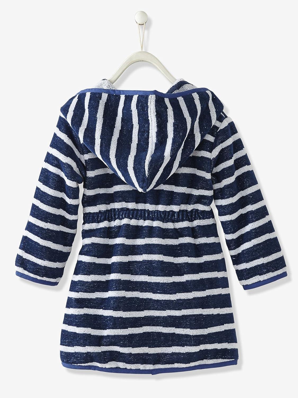 763fcdd6e06fa Vertbaudet Peignoir Enfant avec Capuche Bleu imprimé Rayures 24M - 86CM:  Amazon.fr: Vêtements et accessoires