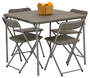 Vango Woodland Table And Chair Set   Grey