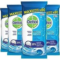 Dettol Power en Fresh MultiReinigingsdoekjes Oceaan 4 x 80 Doekjes Grootverpakking