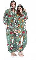 XMASCOMING Women's & Men's Hooded Fleece Onesies Easter Gift One-Piece Pajamas