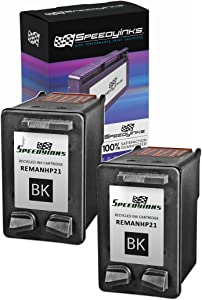 Speedy Inks Remanufactured Ink Cartridge Replacement for HP 21 C9351AN (Black, 2-Pack)