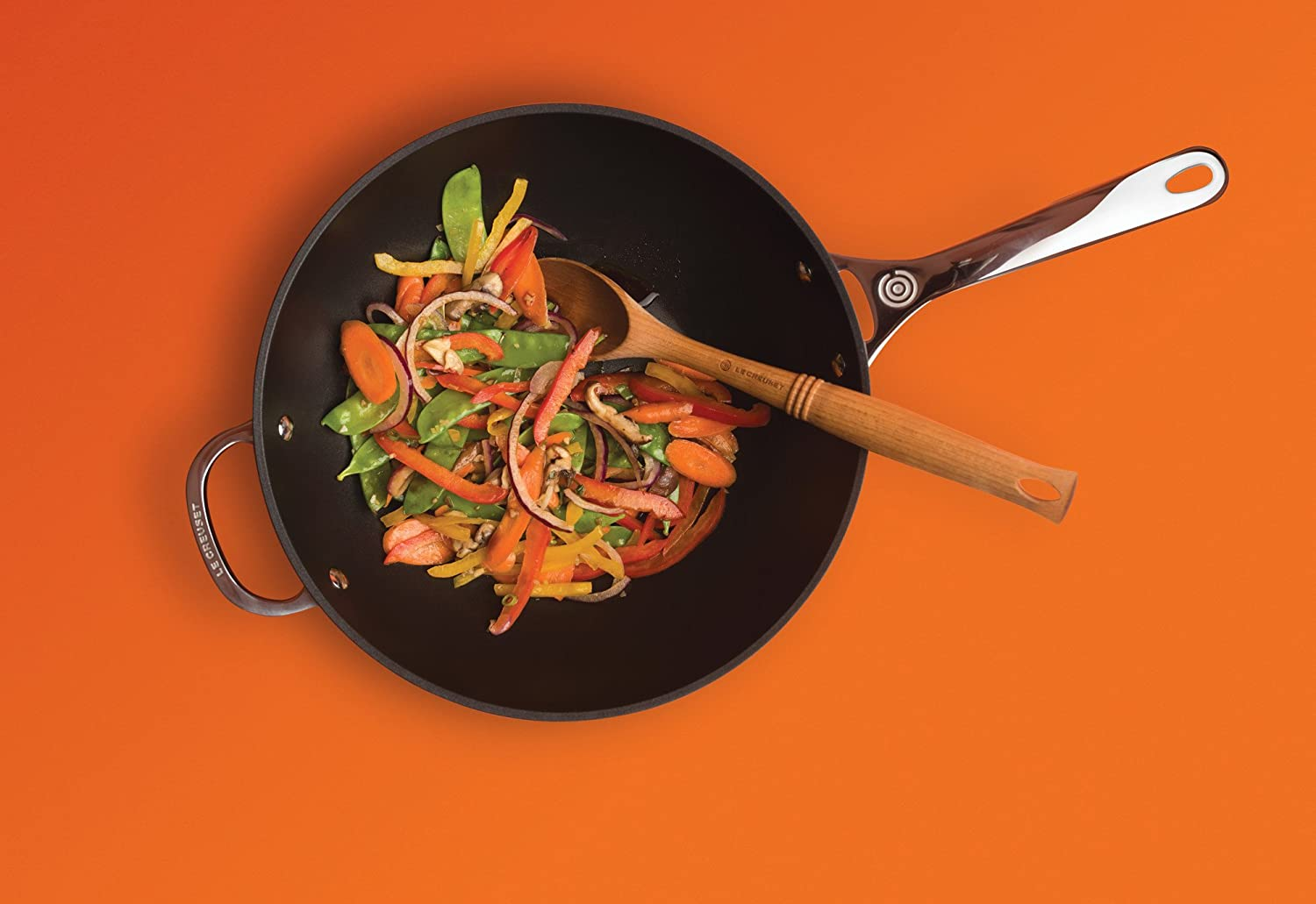 Le Creuset of America Toughened NonStick Stir Fry Pan, 12