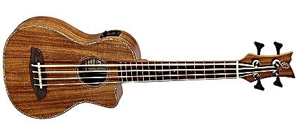amazon com ortega guitars caiman bs gb lizard series uke bass