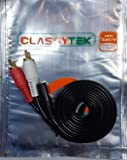 Classytek 3.5mm Female Stereo Jack To 2 RCA Male Plugs Cable 1.5 Meter / 4.9 Feet - Black