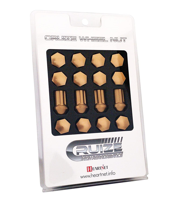 CRUIZE アルミ冷間鍛造ナット P1.5 35mm ロックナット付き 20本セット ライトブラウン B011N66PK8 ライトブラウン ライトブラウン