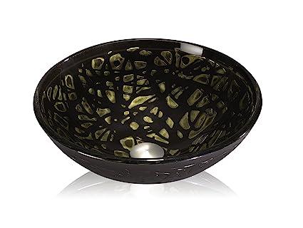 Lenova Gv 40 Round Glass Vessel Sink Black Design Amazon Com