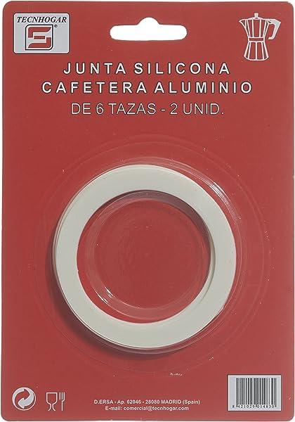 Distribuidora Ersa Junta de Cafetera, Silicona, Blanco, 16,5 x 11 ...