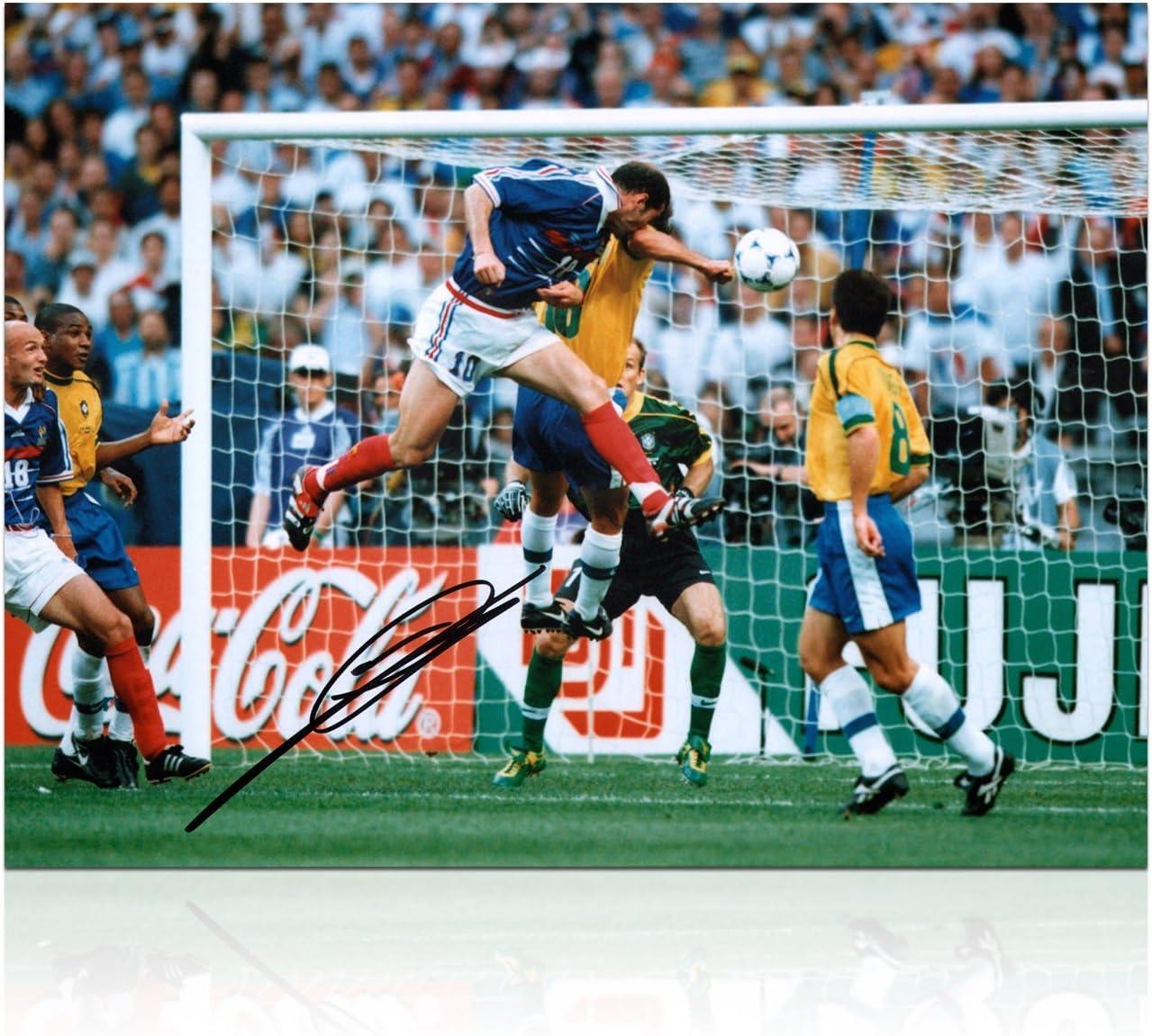 Zinedine Zidane Francia Firmado Foto: Meta Copa del Mundo: Amazon.es: Deportes y aire libre