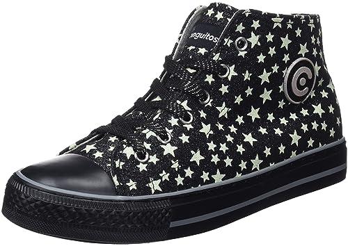 Conguitos Bota Basket Terciopelo Cremallera, Zapatillas sin Cordones para Niñas: Amazon.es: Zapatos y complementos