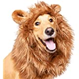 """Pet Krewe Dog Lion Mane Halloween Costume – Fits Neck Size 13""""- 32""""- Lion Mane for Small Dogs – Ideal for Halloween, Dog Birt"""