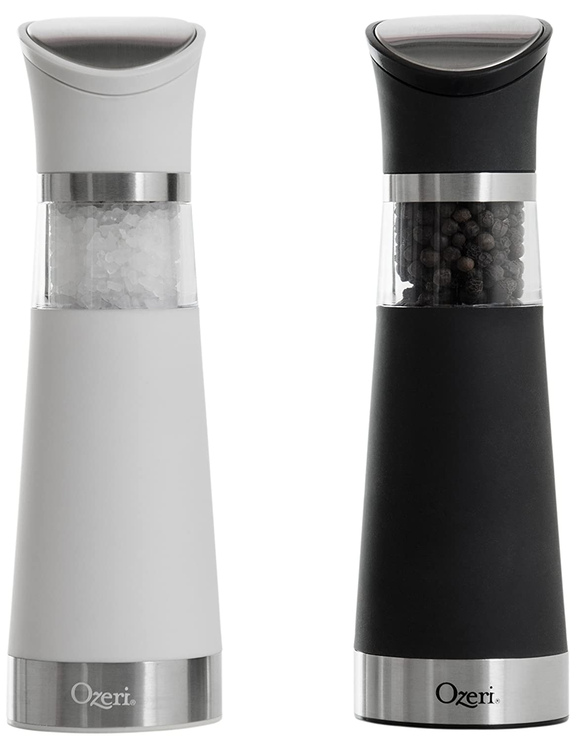Ozeri Graviti Pro Electric Salt and Pepper Grinder Set, BPA-Free OZG8