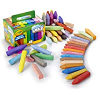 Crayola 48 Washable Sidewalk Chalks, Outdoor Toys for Kids, Bright Colours, Non-Toxic